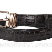 Ремень из кожи крокодила 102 ALB Black фото