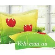 Наволочки сатиновые 70-70 см тм Le Vele с тюльпанами Tulip фото