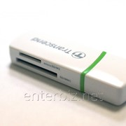 Кард-ридер Card Reader Transcend All-In-One White (TS-RDP5W) внешний, код 59540 фото
