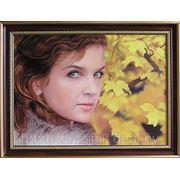 Портрет девушки маслом. фото