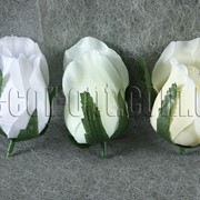 Голова розы из сатина h 6 см 0049 фото