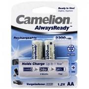 Аккумулятор Camelion AlwaysReady Rechargeable - NH-AA2300ARBP2 - AA - 1.2V - 2300 mAh - 2 шт. фото