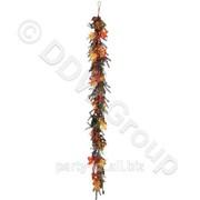 Декоративная гирлянда с ягодами и листьями 180см фото