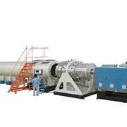 Экструзионная линия по производству труб из ПЭ большого диаметра для водопроводов и газопроводов фото