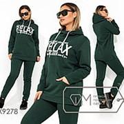 Зимний спортивный костюм женский с капюшоном (3 цвета) - Зеленый ТЖ/-003 фото