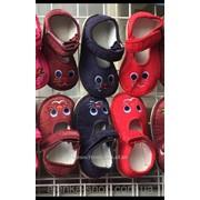 Детские тапочки красные зайки, код товара 223240661 фото