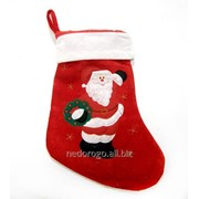Сапог для подарков рождественский текстильный подвесной TG18610 фото