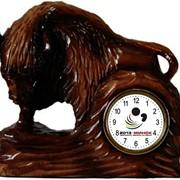 Зубр-часы настольные фото