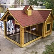 Будка, вальер для собаки. Изготовление мини - домиков фото