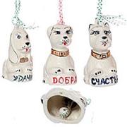 Сувенир-оберег Собака-колокольчик, цветная фото