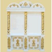 Киот напольный бело-золотой 19 фото