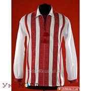 Вышиванка мужская с красной вышивкой (chs-05-13) фото