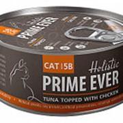 Prime Ever 80г конс. 5B Влажный корм для взрослых кошек Тунец с цыпленком в желе фото