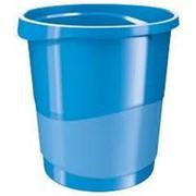 Корзина для мусора 14 литров Esselte Europost VIVIDA, синяя фото