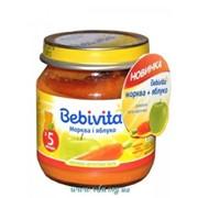 Пюре Bebivita 100г Морковь яблоко фото