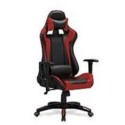 Кресло компьютерное Halmar DEFENDER (черно-красный) фото