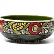 Керамическая пиала ручной работы в украинском стиле фото