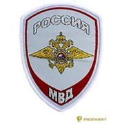 Шеврон МВД Внутренняя служба (орел) вышитый гол (рубашка) фото