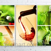 Модульна картина на полотні Вино код КМ100150-073 фото