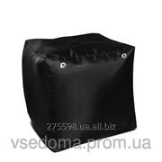 Черный пуфик кубик 35*35*35 см из ткани Оксфорд фото