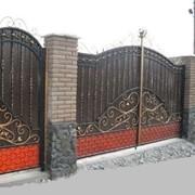 Ворота металлические кованые. Изготовление сварных ворот Коростене фото