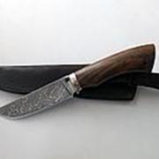"""Нож """"Олень"""" дамасская сталь с никелем фото"""