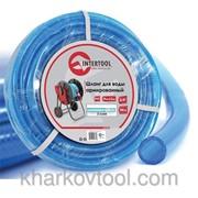 Шланг для воды 3-х слойный 3/4, 100м, армированный PVC Intertool GE-4077 фото