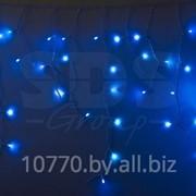 Гирлянда Айсикл (бахрома) светодиодный, 2,4 х 0,6 м, белый провод, 220В, диоды синие, NEON-NIGHT фото