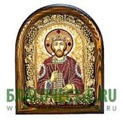 Дивеевские золотошвейные мастерские Владимир, святой равноапостольный великий князь, дивеевская икона ручной работы из бисера Высота иконы 17 см фото