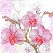 Салфетка для декупажа Три орхидеи розовые фото