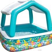 57470 INTEX Надувной детский бассейн прямоугольный с навесом Аквариум фото