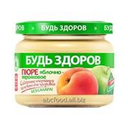 """Пюре фруктовое яблочно-персиковое """"Будь здоров"""", 280г фото"""