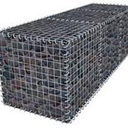 Габионы из проволоки с плотным цинковым и дополнительным ПВХ покрытием фото