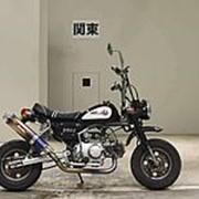 Мопед мокик Honda Monkey рама Z50J гв 1993 тюнинг пробег 661 км пурпурный белый фото