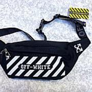 Поясная сумка Off-White чёрная фото