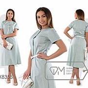 Платье женское в мелкий горох (6 цветов) - зеленый PY/-357 фото