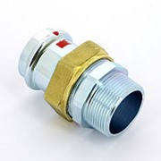 Муфта пресс-Н с накидной гайкой и плоской прокладкой оцинкованная сталь Prestabo VIEGA 42х1 1/2' фото