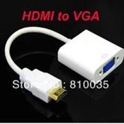 Переходник HDMI-VGA 19F/19M золотые разъемы фото