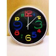 Часы настенные Цветные Цифры d -285мм фото