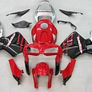 Мото пластик комплект Honda CBR600RR 05-06 красно-черно-серебристый фото