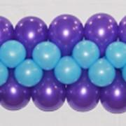 Плоская гирлянда в три шарика фото