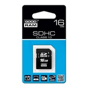Карта памяти SDHC 16GB Class 10 GOODRAM (SDC16GHC10GRR10) фото
