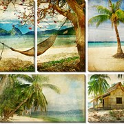 Картина модульная Пляж_3 фото