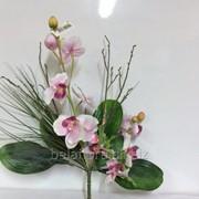 """Цветок искусственный """"Орхидея в композиции"""" 13.0495-08 фото"""
