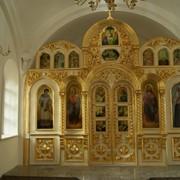 Церковный декор. Иконостас. Золото. фото