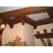 Деревянные балки под старину фото