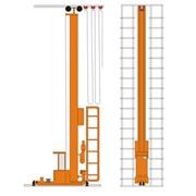 Кран-штабелер стеллажный с ручным управлением из кабины СР-0,5... 1,0, г/п 0,5; 0,1 тн, высота подъема 0÷10,8 м фото