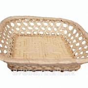 Хлебница квадратная, редкое плетение (16*16*H4), арт. 831101 фото