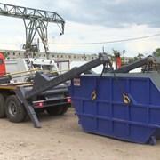 Вывоз строительного мусора бункером Воронеж фото