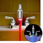 Подсветка для крана, меняющаяся от температуры воды, товары для душа, ванной фото